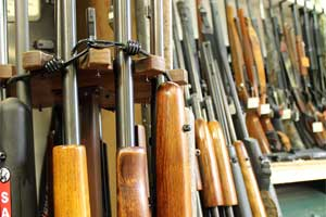 Rifle inventory on display